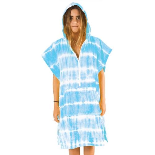 Poncho Ocean & Earth Tie Dye Zip