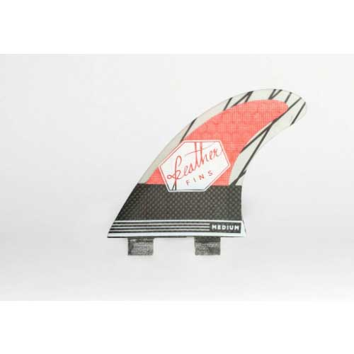 Quillas de Surf Feather Fins Superlight Dual Tab Red