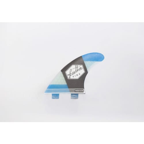 Quillas de Surf Feather Fins CarbonFlex Dual Tab Blue