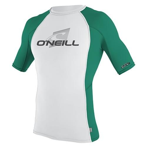Licra Oneill basic Skin ss blanco verde