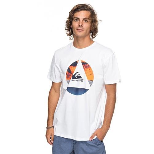 Camiseta Quiksilver Fluid Turns blanco