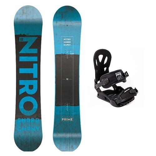 Pack de snowboard Nitro Prime Blue 2019