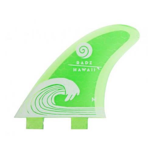 Quillas de surf FCS Radz Hawaii Waikiki M Green