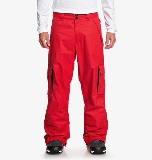 Pantalón de snowboard DC Banshee rojo 2020
