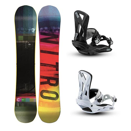 Pack de snowboard Nitro Cinema Staxx 2020