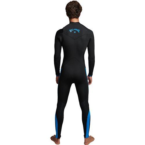 Billabong Mens Furnace Absolute Chest Zip Wetsuit Blue C