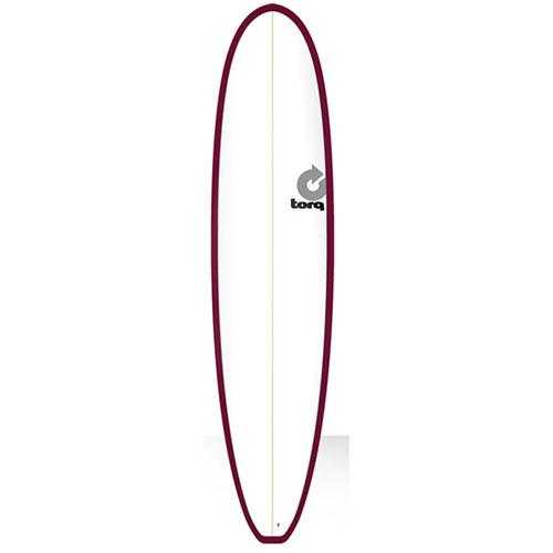 Tabla de surf Torq Malibu Pinline White Burgundy