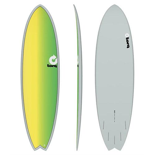 Tabla de surf Torq Fish Fade Gray Yellow