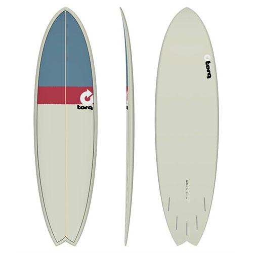 Tabla de surf Torq Fish Sand Red