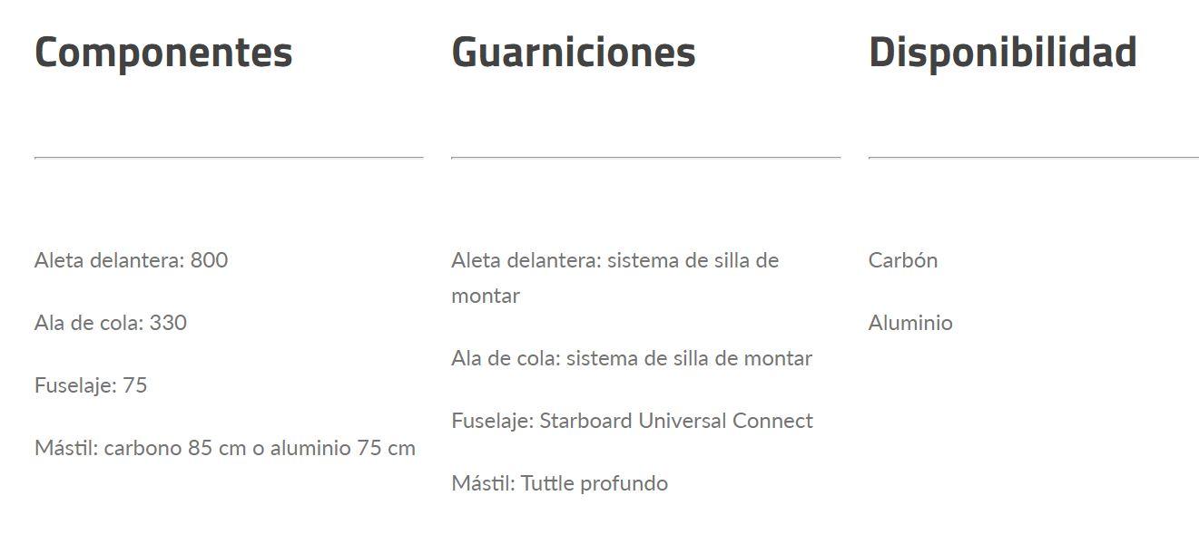 Foil Starboard GT Aluminio