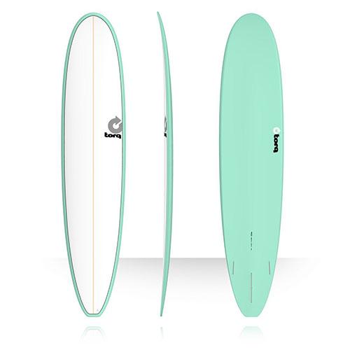 Tabla de surf Torq Malibu Pinline White Seagreen