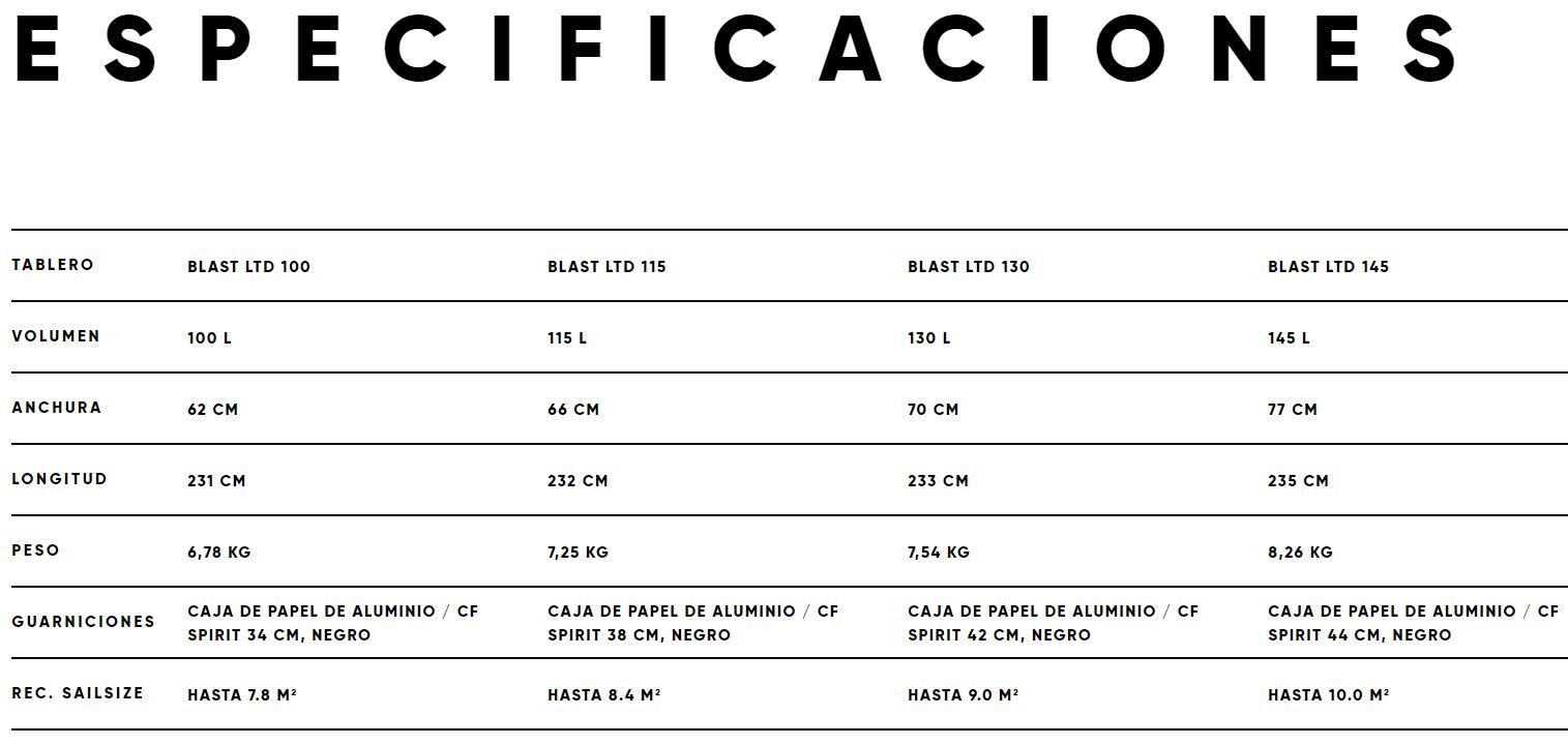 Tabla de windsurf Fanatic Blast LTD