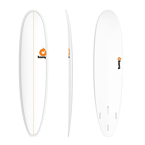 Tabla de surf Torq Malibu Pinline White