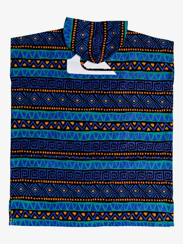 Poncho Quiksilver Hoody towel greca