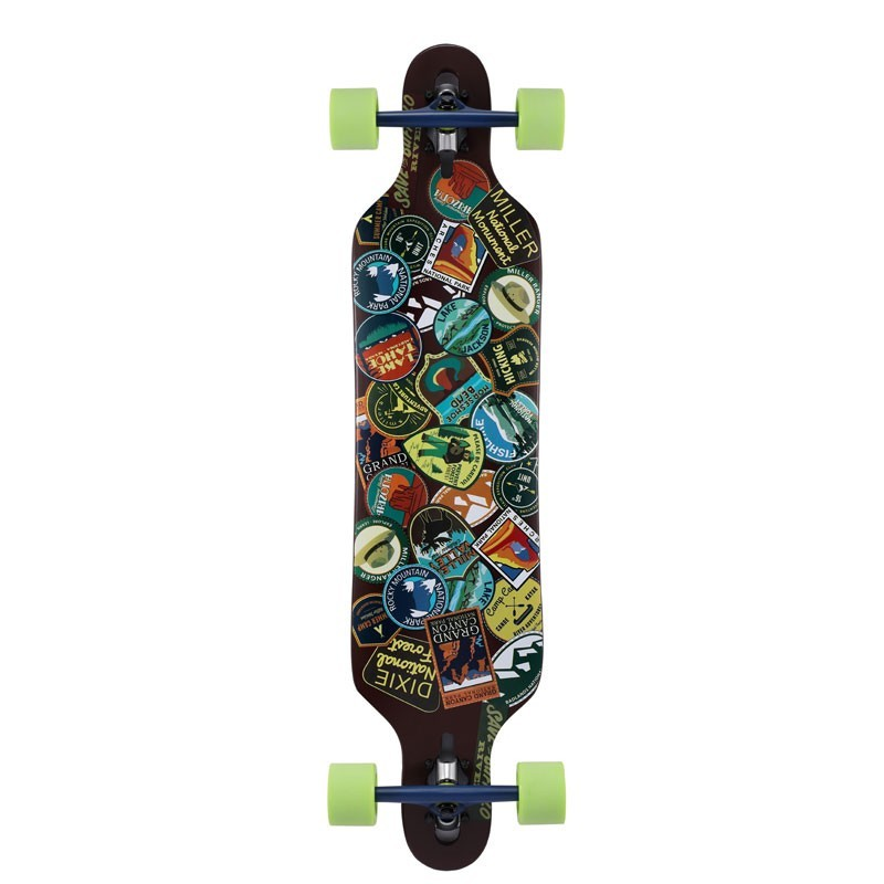 Longboard skate Miller National Park 41