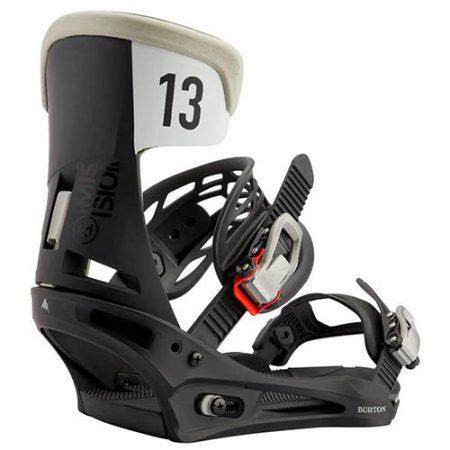 Fijaciones de snowboard Burton Mission Black Gray Wing 2021
