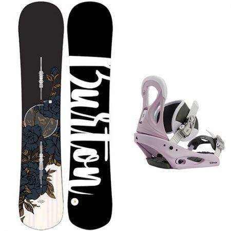 Pack de snowboard Burton Hideaway fijaciones Citizen 2021