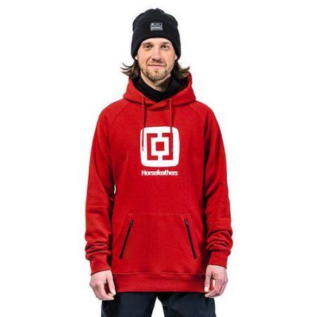 Sudadera de snowboard Horsefeathers Sherman Red