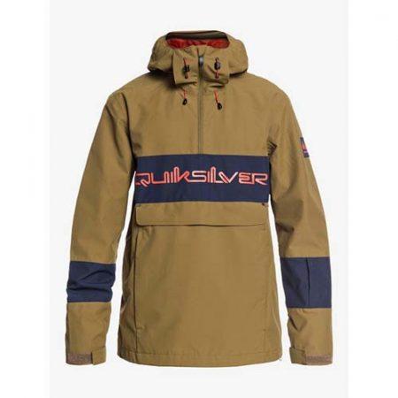 Chaqueta de snowboard Quiksilver Steeze Olive military