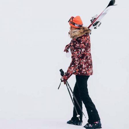 Chaqueta de snowboard Roxy Jet Ski Red Leopard 2021