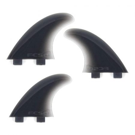Quillas de surf FCS M5 Smoke Softflex Tri Fin Set