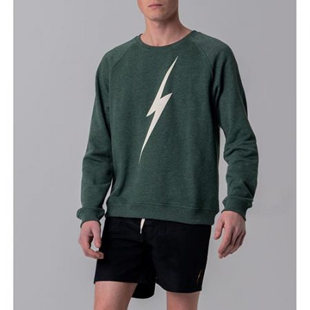 Sudadera Lightning Forever Crew verde