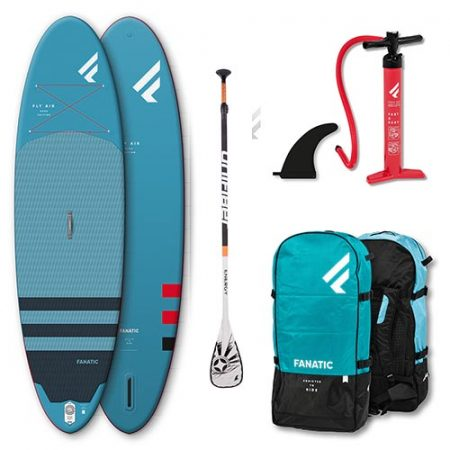 Pack de Paddle Surf Fanatic Fly Air 10 4″ Azul 2021