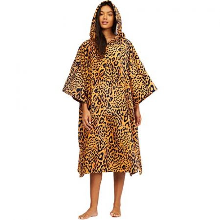 Poncho Billabong Hooded Towel Animal Leo